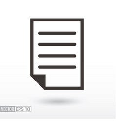 Document flat icon sign file vector