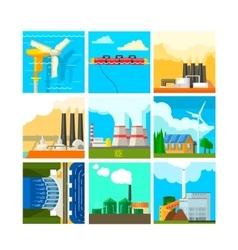 Energy Sources Symbols Set vector image