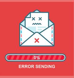 envelope emoji flat email drunk vector image