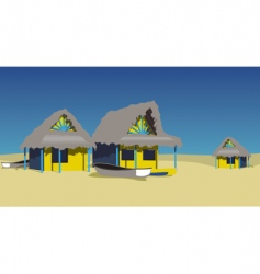 Exotic beach vector