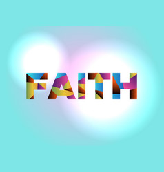 faith concept colorful word art vector image vector image