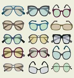 fashion Set icon of colored Sunglasses vector image vector image