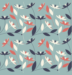 floral seamless pattern with elegant flowers vector image vector image