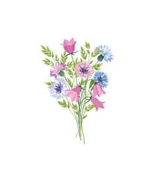 flowers isolated floral summer bouquet meadow vector image