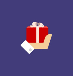gift holding in the hands of men vector image vector image