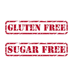 Gluten free and sugar free rubber stamps vector image vector image