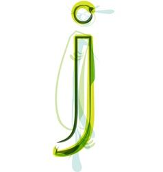 Green letter j vector
