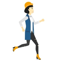 Happy woman jogging vector