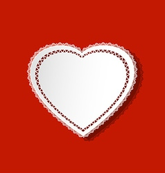 Heart doily vector image vector image