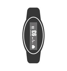 heartrate wrist tracker icon vector image vector image