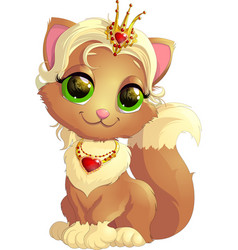 Kitty princess with decorations vector