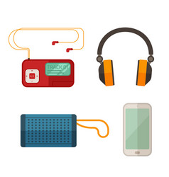 Listen to music devices vector