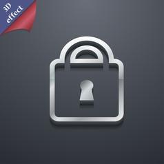 Lock icon symbol 3D style Trendy modern design vector image
