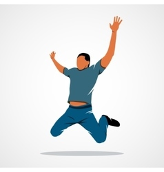 Man jump success vector