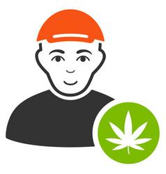 Marihuana dealer icon vector