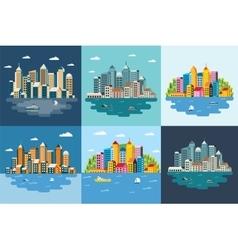 Megapolis landscape vector image