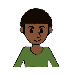 Portrait man avatar comic image vector