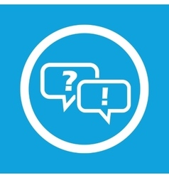 Question answer sign icon vector