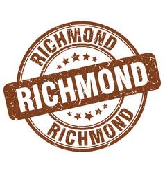 Richmond brown grunge round vintage rubber stamp vector