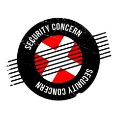Security concern rubber stamp vector