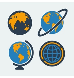 Set of symbols Planet vector image