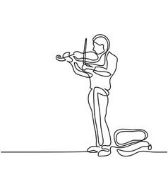street musician man playing the violin vector image vector image