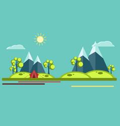 summer camping flat vector image vector image