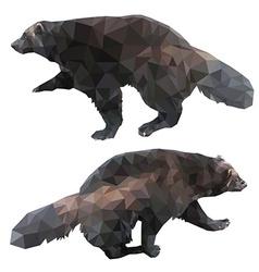 Wolverine polygonal style vector