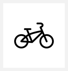 Kids bike icon vector