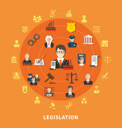 law round composition vector image