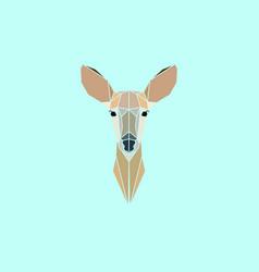 roe deer head geometry logo vector image