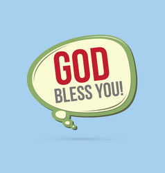 God bless you text in balloons vector