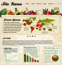 Colorful Website Template vector image