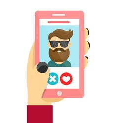 online dating love app concept vector image