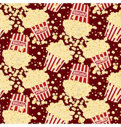 Seamless popcorn bag background vector