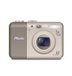 Digital compact camera vector