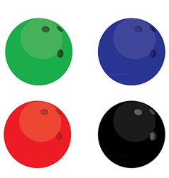 Bowling balls color vector