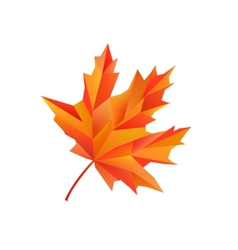 Geometric maple autumn leaf isolated on vector