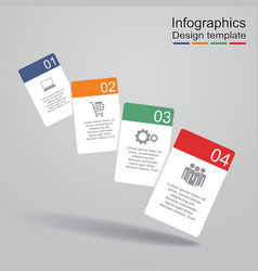 Infographic report template with cards and icons vector