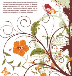 Grunge decorative floral vector
