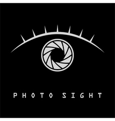 Photo eye with eyelash logo vector