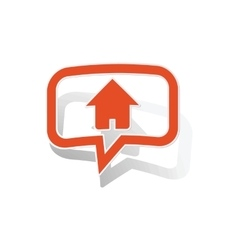 Home message sticker orange vector