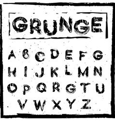 Hand drawn grunge letters vector