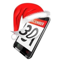 Calendar in smart phone vector
