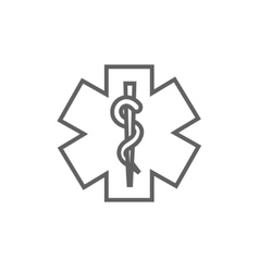 Medical symbol line icon vector