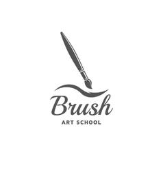 Brush emblem vector