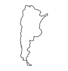 Argentina map icon outline style vector
