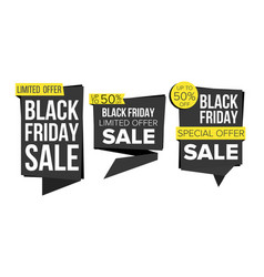 black friday sale banner collection vector image vector image
