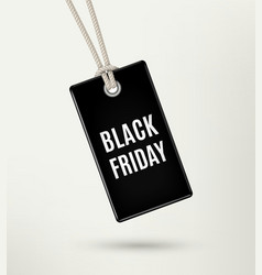 Black friday sale tag label poster vector image vector image
