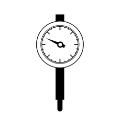 black silhouette micrometer with gauge needle vector image